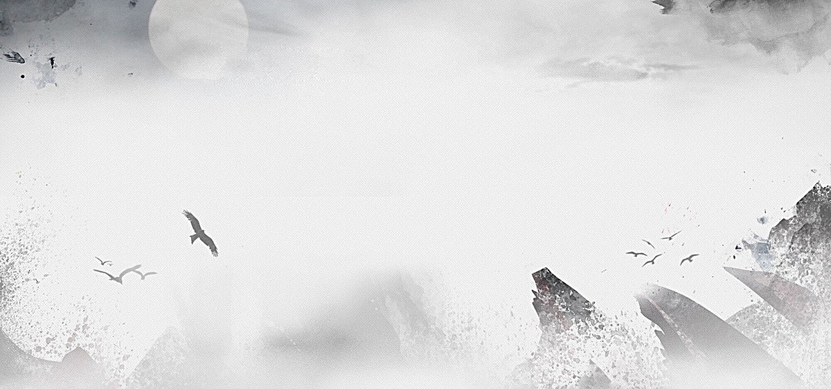 灰色中国风手绘背景
