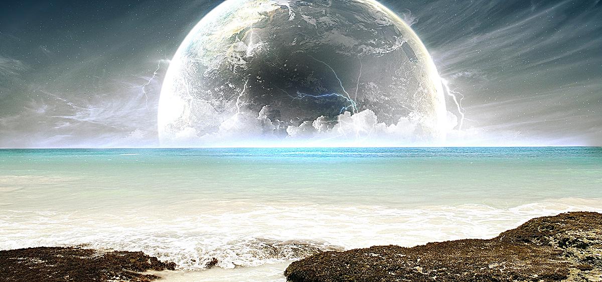 唯美梦幻海边风景背景jpg素材-90设计