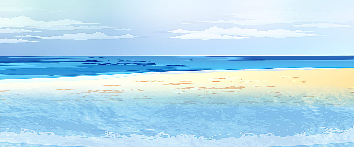 海洋沙滩清新背景图片