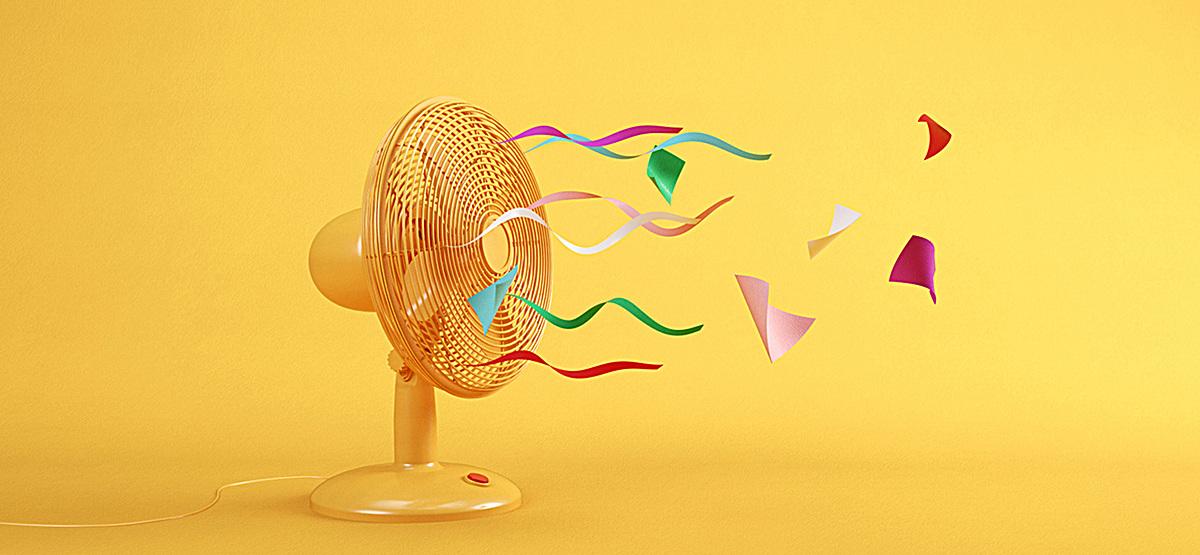 创意风扇背景装饰图片