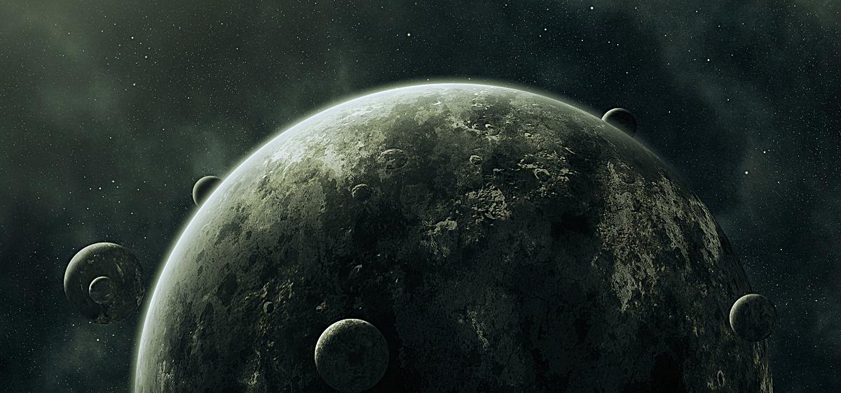 科幻梦幻星球风景背景