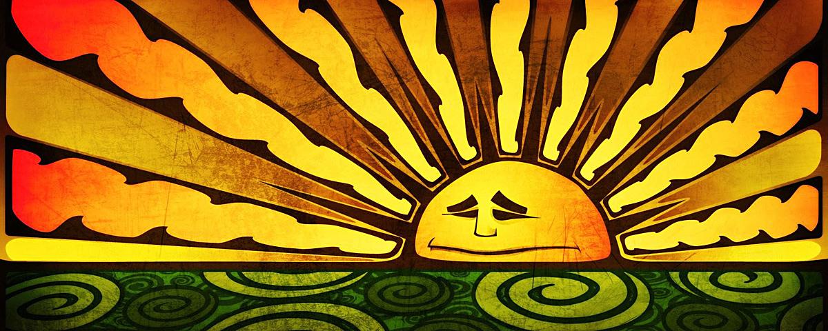 搞怪创意太阳背景banner