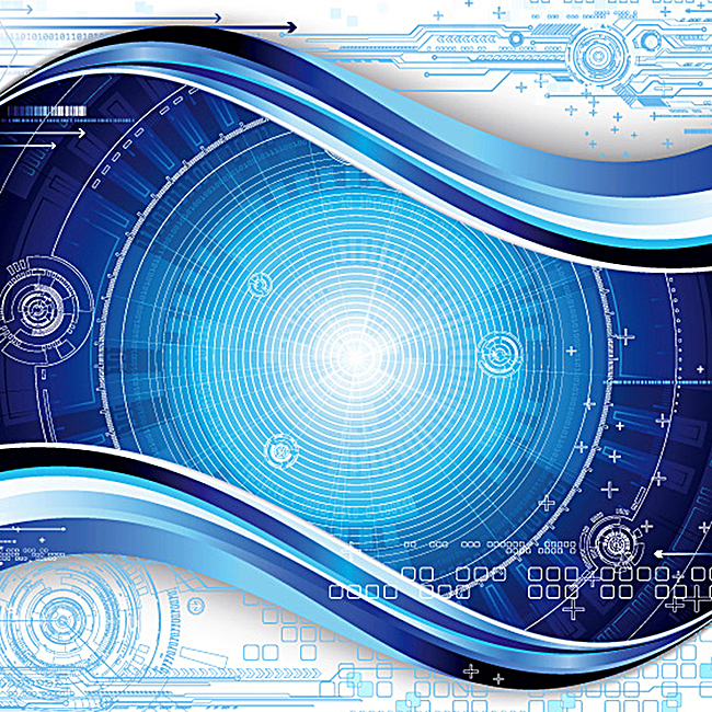 海报背景_炫酷蓝色科技感背景jpg素材-90设计