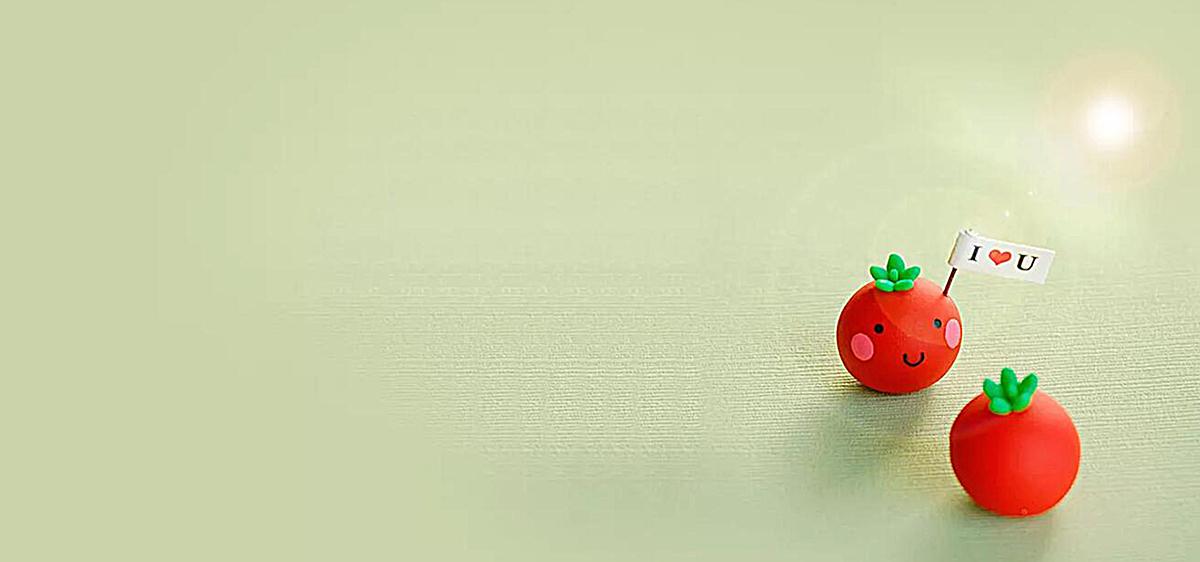 可爱红色小球背景图