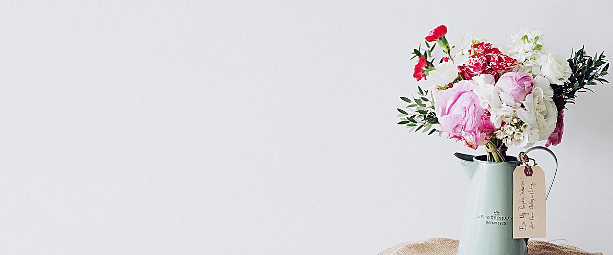 花店清新banner背景jpg素材-90设计