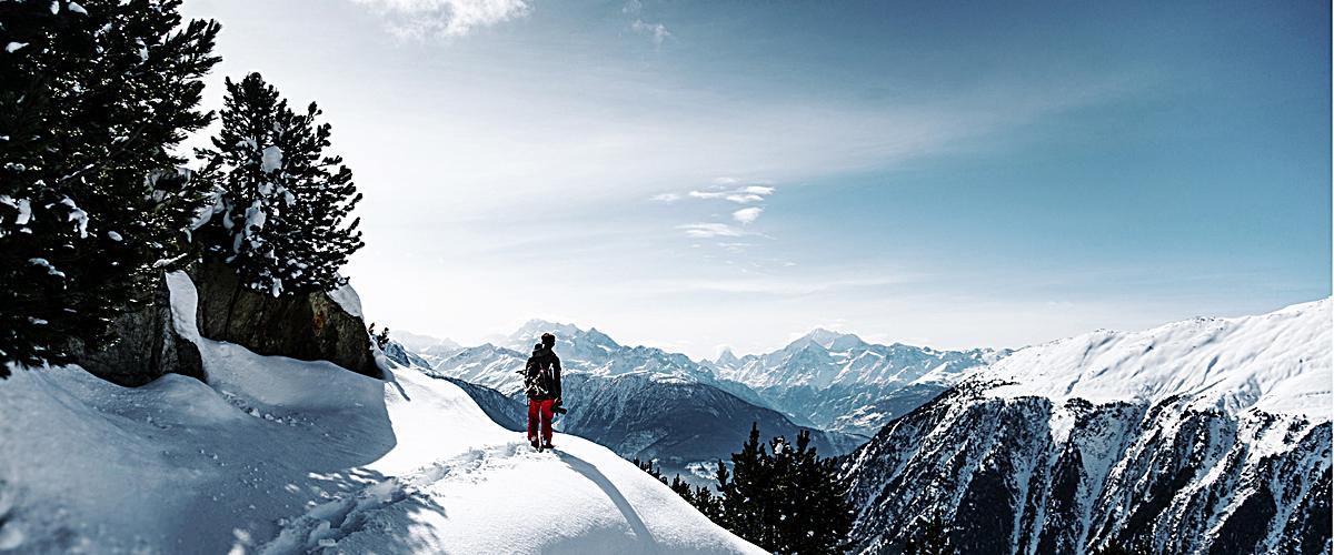 大气雪山banner背景jpg素材-90设计