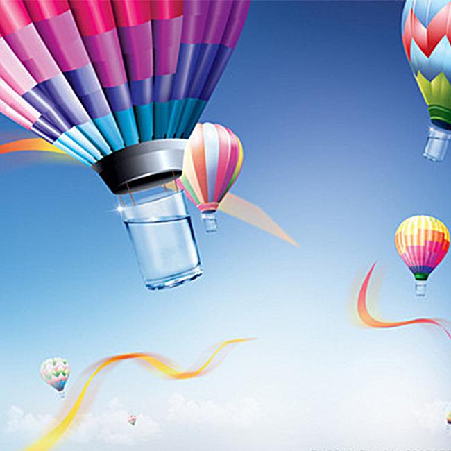 简约热气球背景图