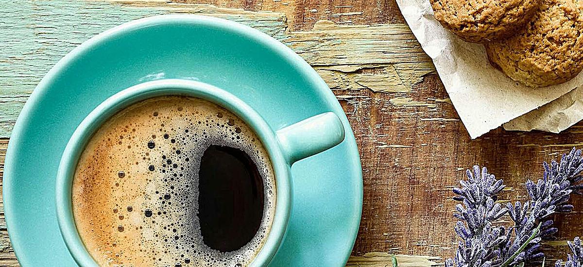 风景蓝色咖啡背景