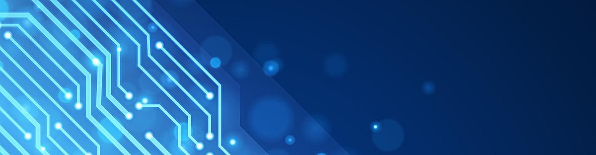 蓝色线路板科技商务banner