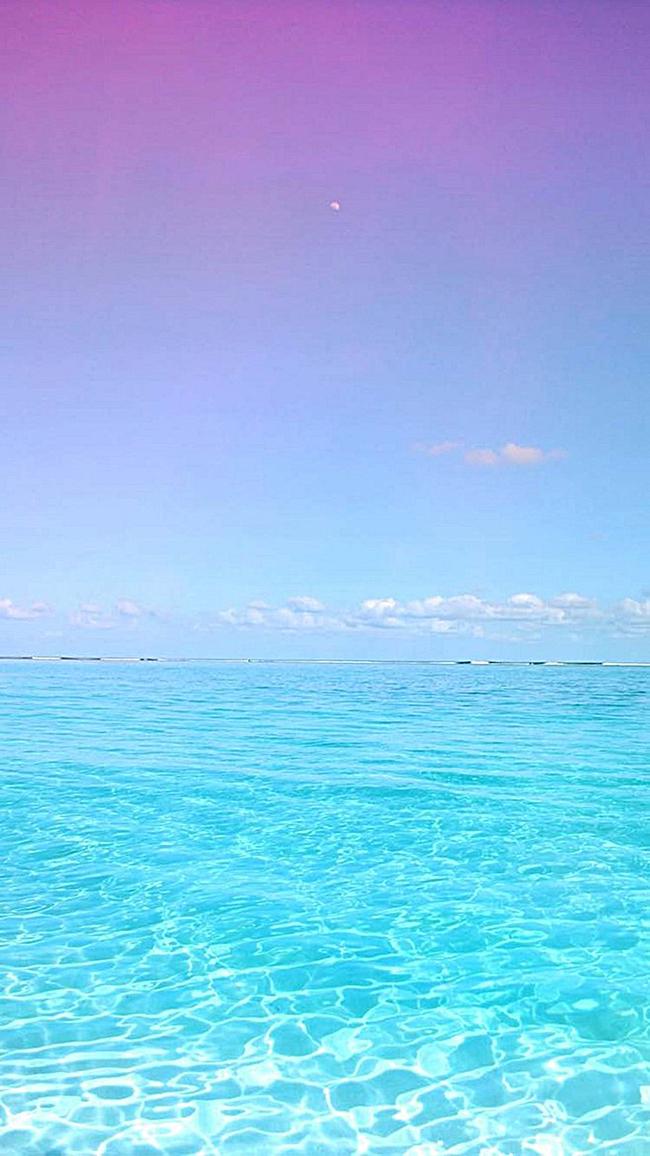 紫色蓝色渐变海滩大海h5背景jpg素材-90设计