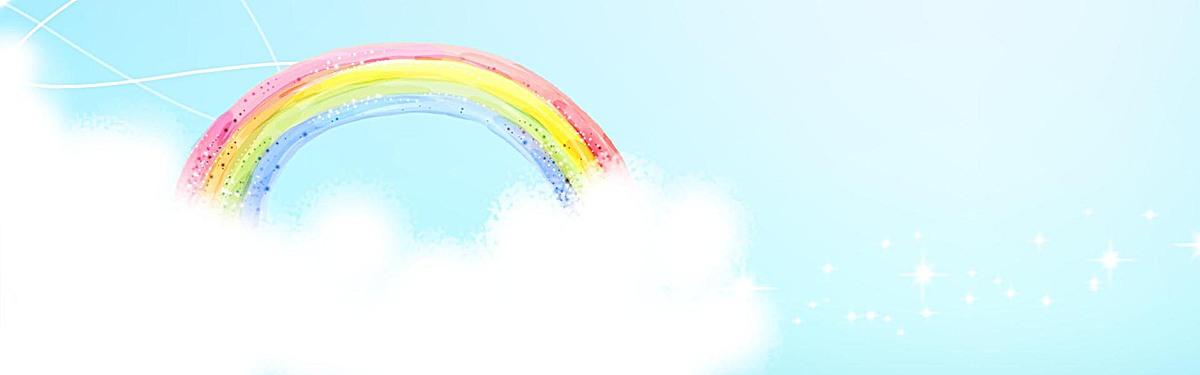 手绘彩虹背景