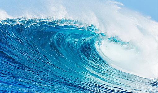 大气海浪翻腾海水背景