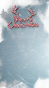 圣诞节雪花淡蓝背景