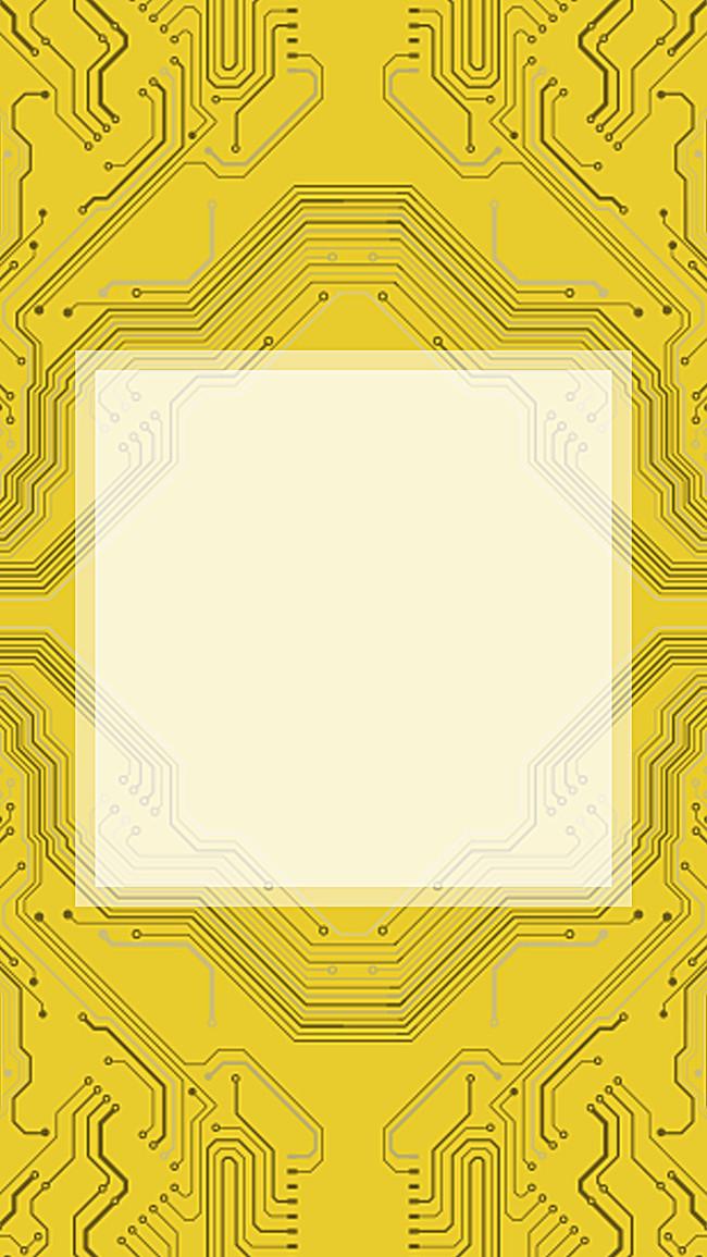 黄色 电路板 科技 大气 h5背景 科幻 商务 手机端:黄色电路板h5背景