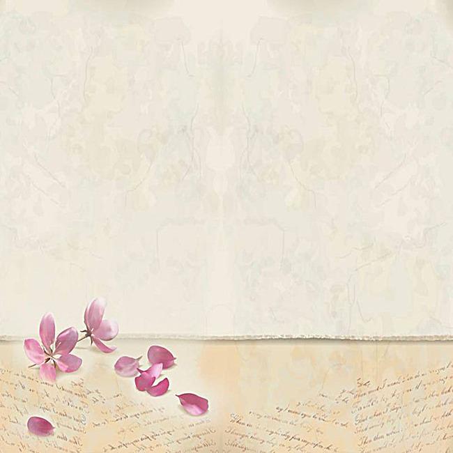 浅色花瓣温馨活动促销背景图
