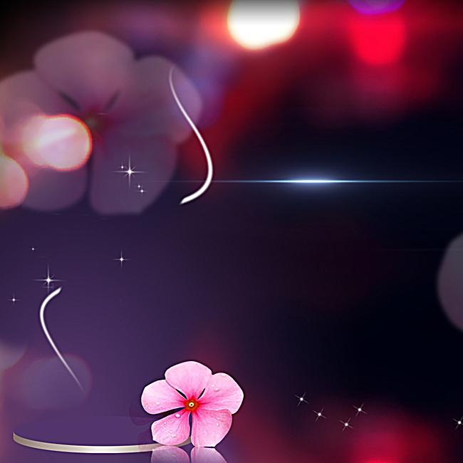 90设计提供商务黑底红色花朵背景设计素材下载,高清psd格式.