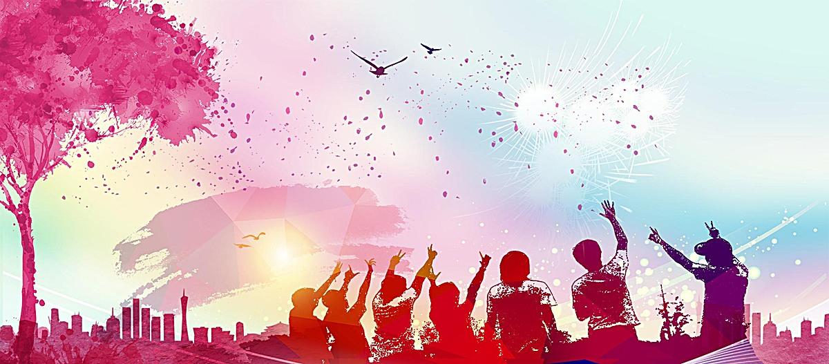 青春校园红色节日海报