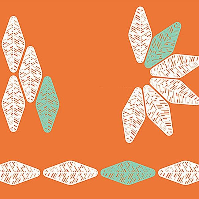 文艺小清新镂空树叶背景图图片