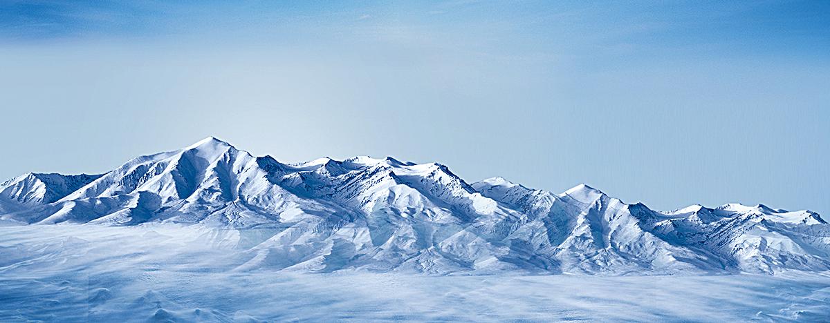 天山雪山背景海报bannerpsd素材-90设计