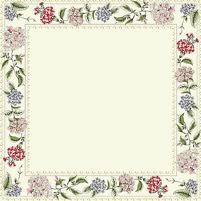 文艺小清新边框花朵背景图