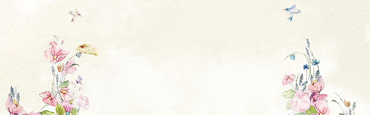 花鸟中国风米白色海报背景psd素材-90设计