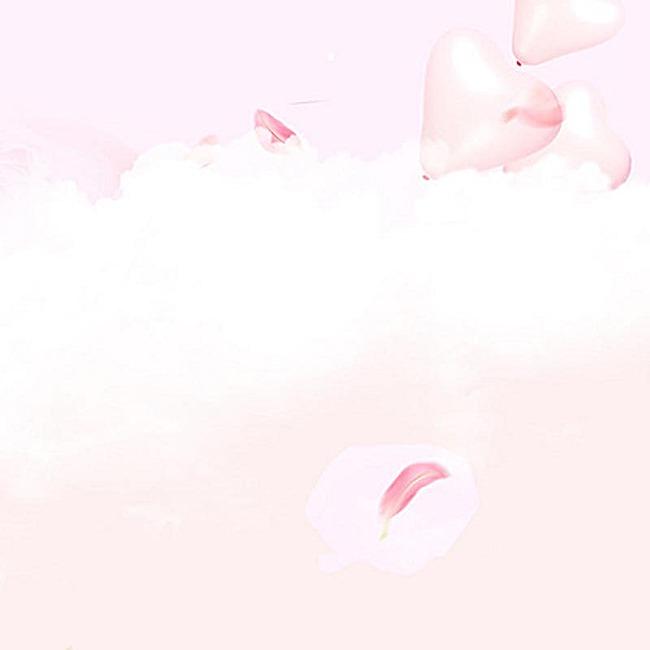 粉色云朵爱心气球背景图