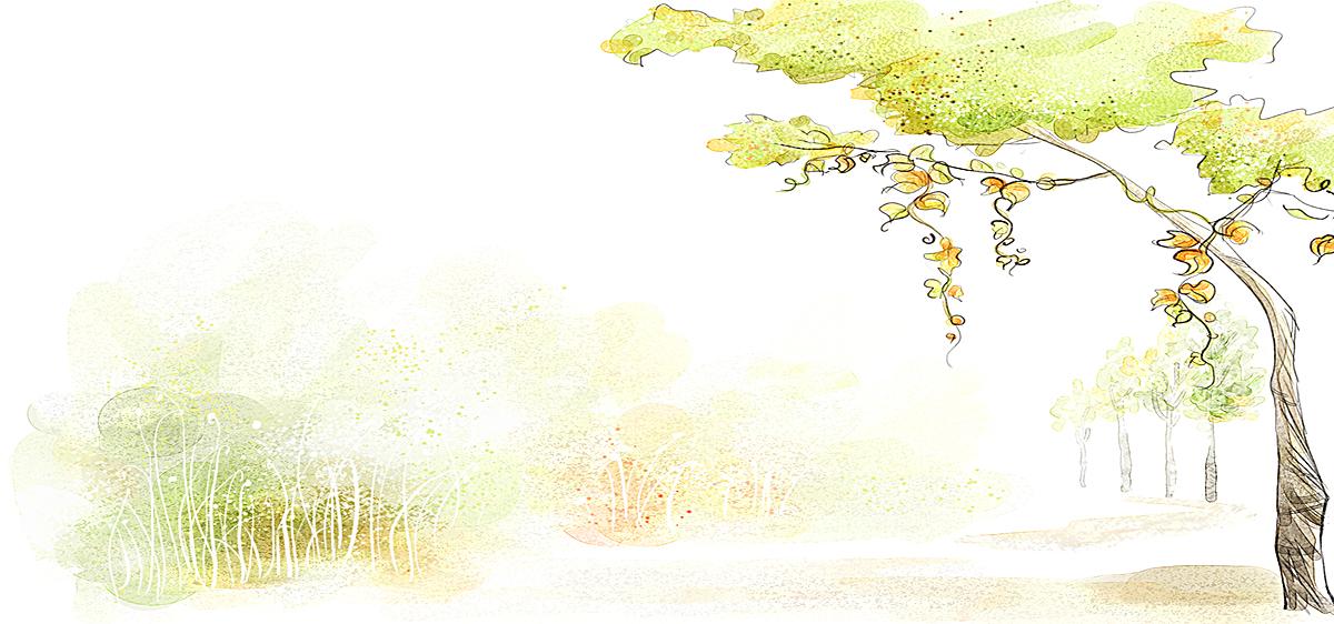 手绘风景背景