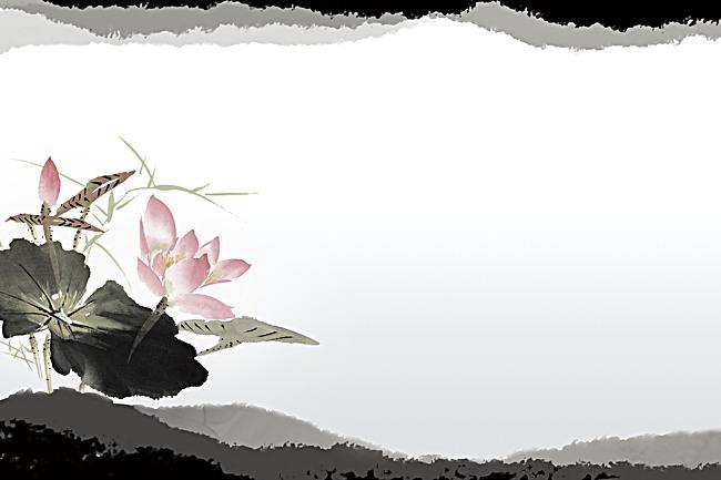 梦幻   荷花  手绘  海报  背景 手机端:梦幻荷花手绘背景素材