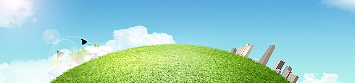 蓝天白云大自然背景