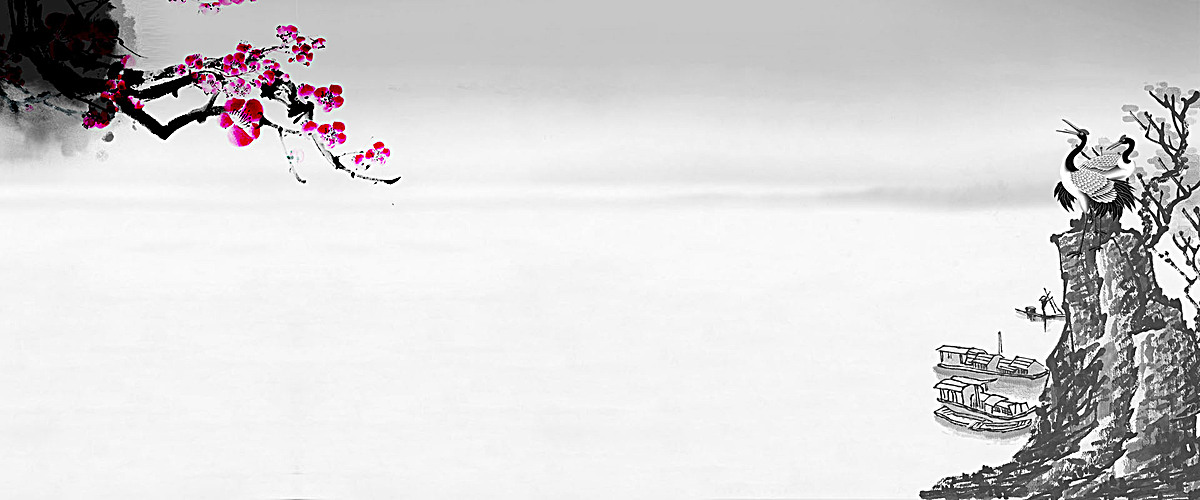初春中国风淡灰色背景海报psd素材-90设计