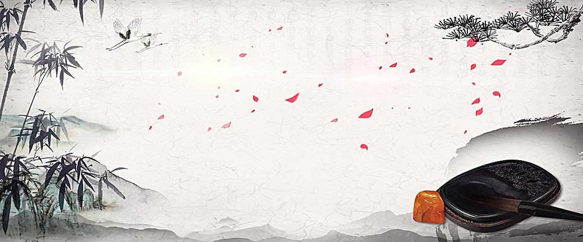 墨中国风质感灰色海报psd素材-90设计