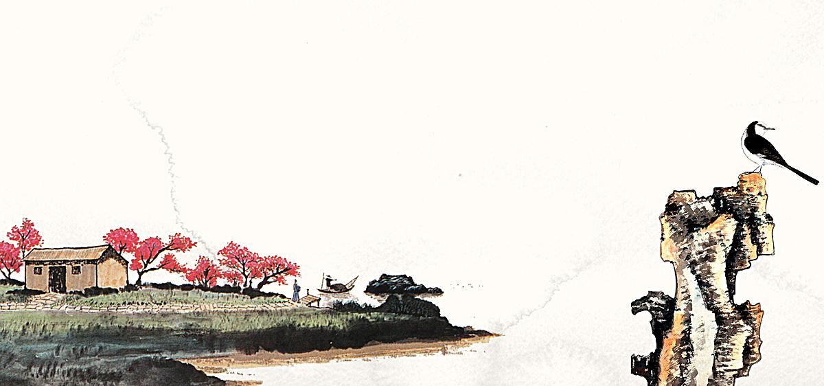 点击右侧免费下载按钮可进行田园水墨画中国风海报背景淘宝设计素材