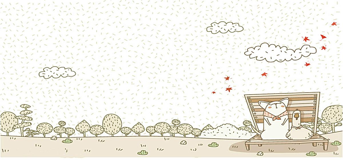 海报背景_卡通可爱动物背景jpg素材-90设计