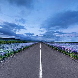 道路大气风景淘宝主图背景元素