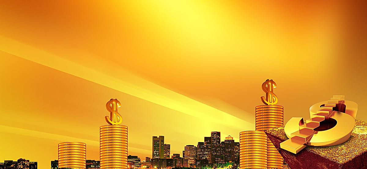 网站背景_金融投资理财商务网页banner背景