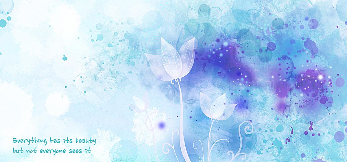 花朵梦幻包装设计背景