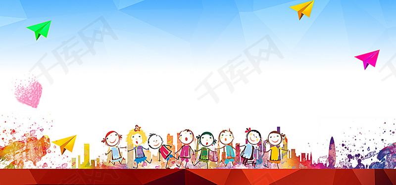 卡通人物校慶活動海報背景圖片免費下載 海報banner psd 千庫網 圖片