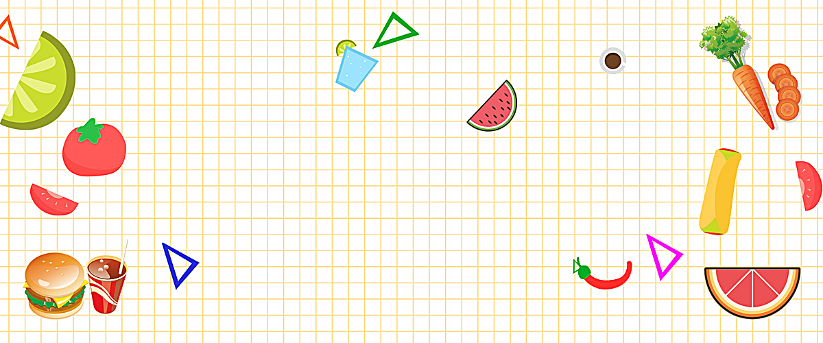 食品卡通白色海报banner背景图片背景素材免费下载,_5