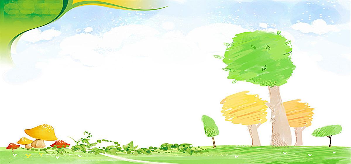 简约风景手绘海报图片psd素材-90设计