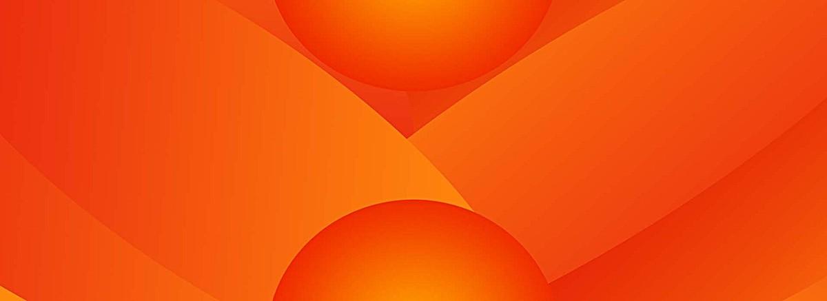 橘黄色渐变椭圆装背景bannerpsd素材-90设计