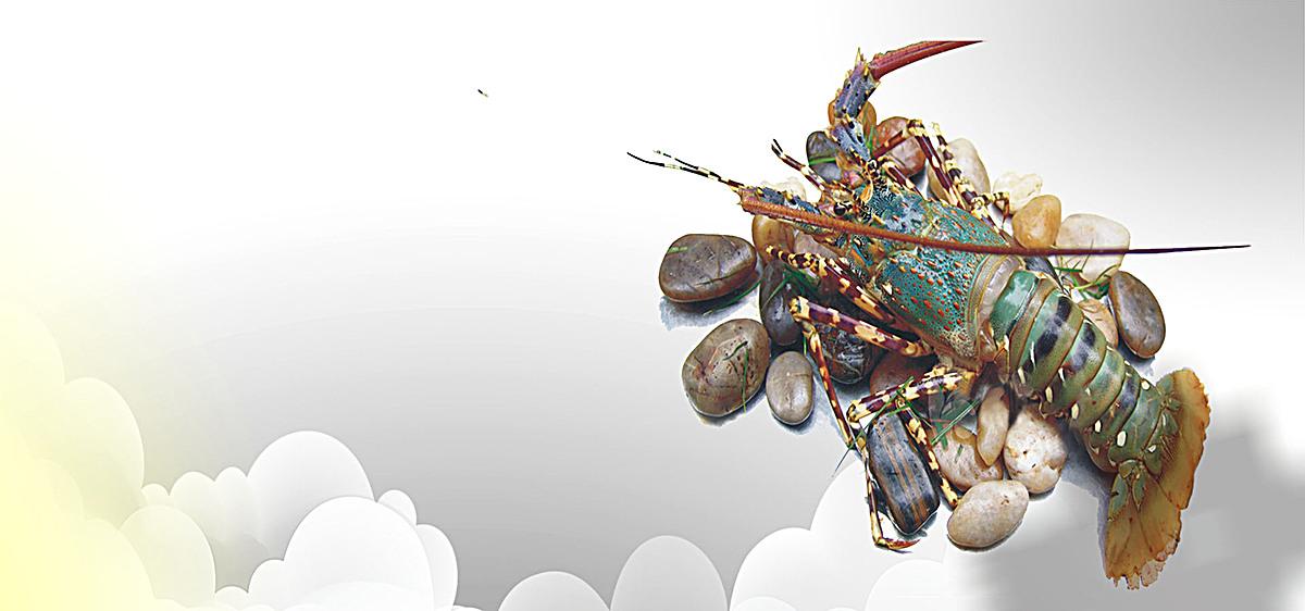 美味海鮮宣傳海報psd分層素材