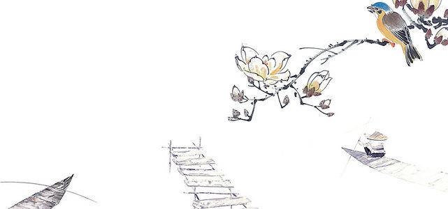 花鸟画背景素材 花鸟画高清背景下载 千库网