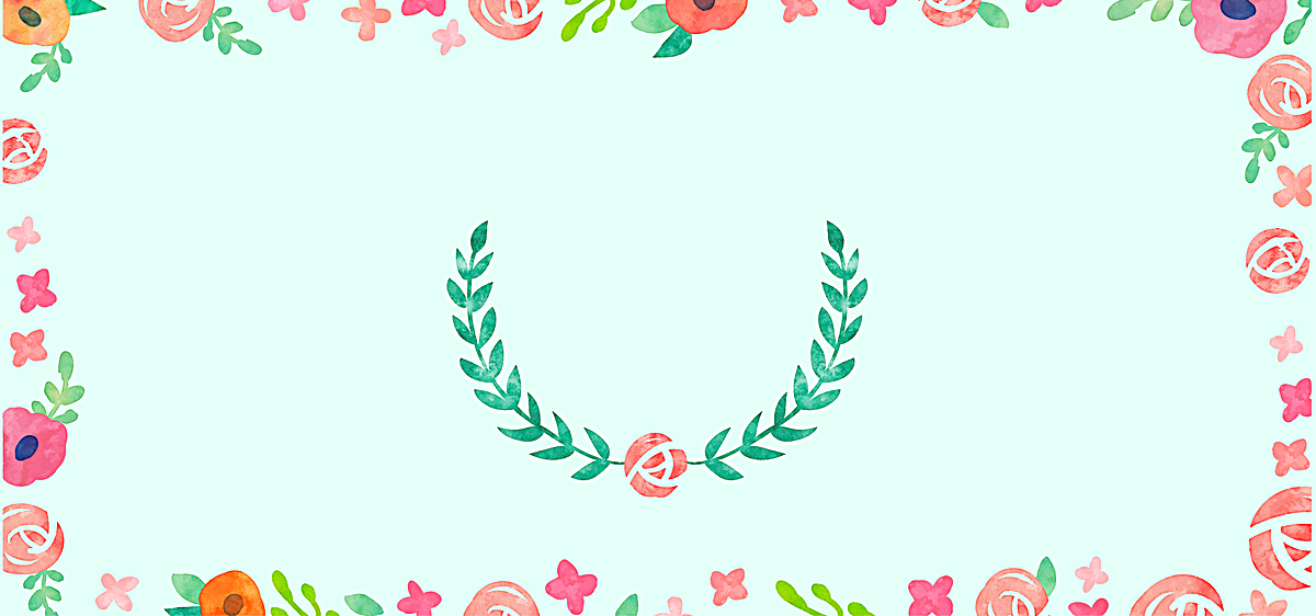 森系婚礼文艺蓝色banner背景