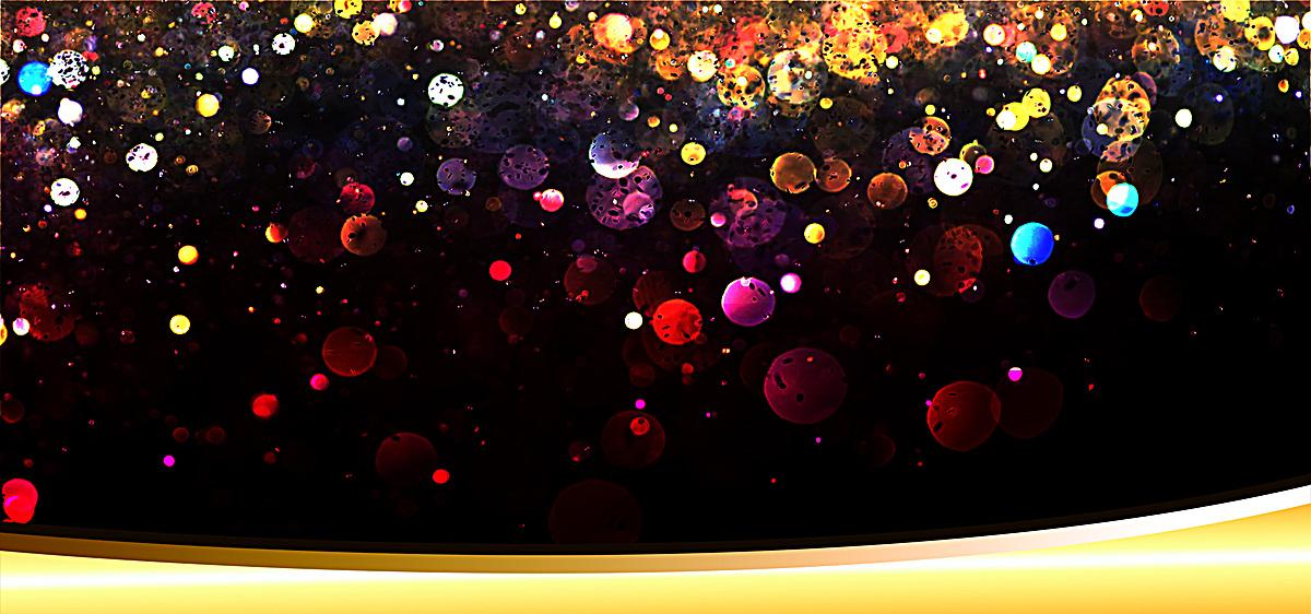 星光色彩渐变彩带商务设计海报bannerpsd素材-90设计