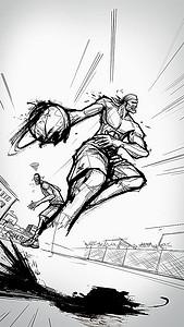 手绘篮球高清背景素材下载 千库网