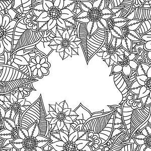 公园小径简笔画_【黑白花朵背景图片】_黑白花朵高清背景素材下载_千库网