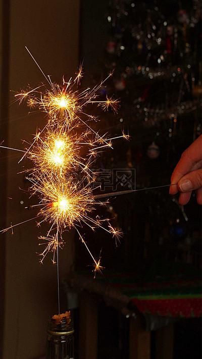 新年放烟火H5背景素材背景图片免费下载_H5