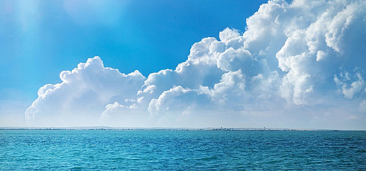 大海摄影风景蓝色旅游海报背景