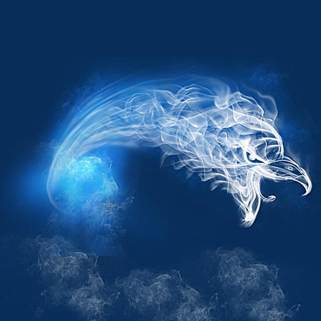 烟雾雾气跑鞋蓝色psd分层主图背景素材