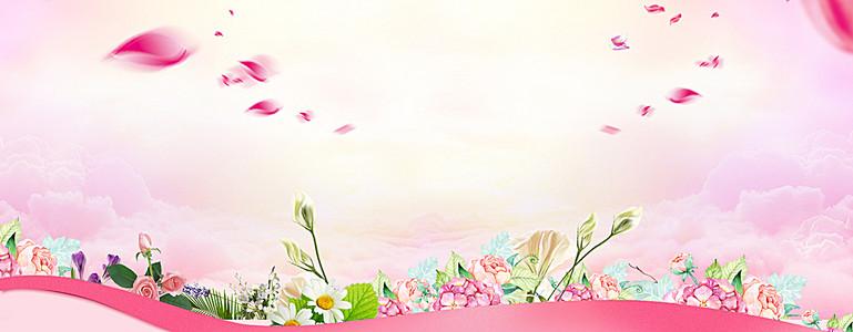 玫瑰相册淘宝海报背景